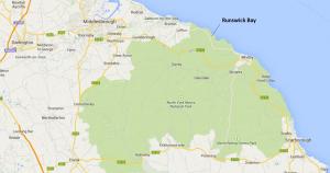 Runswick Bay Location Map